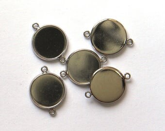 Cabochon Tray Setting with 2 links x 8