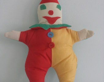 Unique Clown Hand-made Toy/Stuffed Doll Soft/Children's Gift