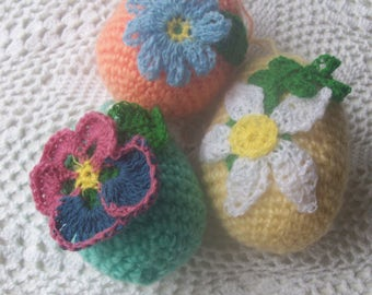 Easter set of eggs Flowers