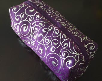 Silver Swirl Cosmetic Bag