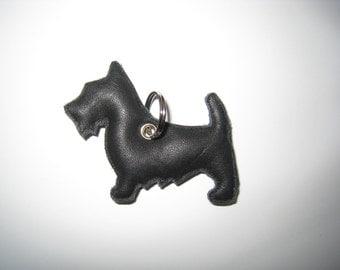 Scottish Terrier leather pendant