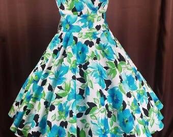 Rockabilly 50s petticoats summer dance registry bridesmaids dress