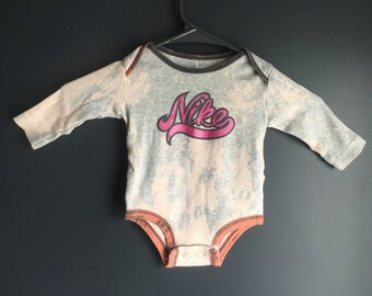 3-6 month, Repurposed long sleeve grey one piece
