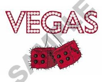 Vegas Fuzzy Dice - Machine Embroidery Design