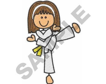 Karate Girl - Machine Embroidery Design