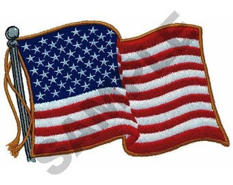 Large American Flag - Machine Embroidery Design