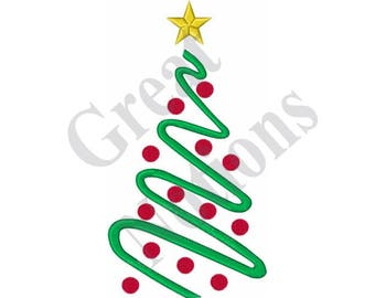 Large Christmas Tree - Machine Embroidery Design