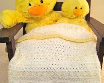Light Yellow Detail Baby Blanket