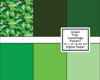 Digital Paper 15'x15' Barra Fish Camo and Colours  32 files for download.