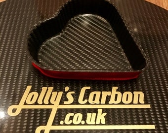 Carbon Fibre Heart Trinket Tray,  wedding favour tray