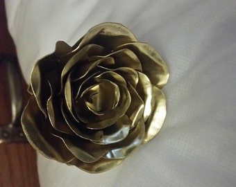 Handcrafted Bronze and Copper Rose