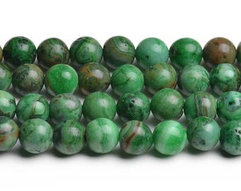 8mm green crazy lace agate 8mm green crazy agate 8mm green agate beads green pattern beads round crazy agate round beads smooth crazy agate