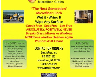 Streak Free Microfiber Cleaning Cloths