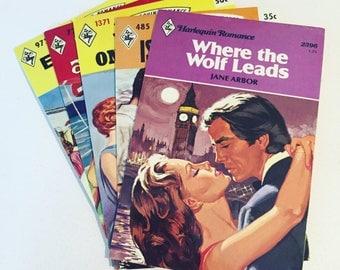 unused vintage style postcards // harlequin romance novels // mid century // drama