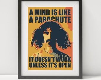 frank zappa, frank zappa poster, frank zappa print, frank zappa art, frank zappa lyrics, music poster, music poster, gift poster, prints