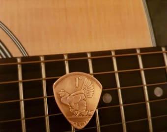 Old Irish penny plectrum