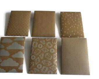 Gift card envelopes, Silver prints, Assorted gift card holders, Kraft paper gift card envelopesoin envelopes, money envelopes, set of 6