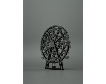 Small Plexiglass Cut-Out Of The Navy Pier Ferris Wheel