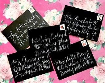 Custom Calligraphy Envelope
