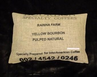 """Pillowcase original coffee bag cushion """"Bourbon"""", 60 x 40 cm"""