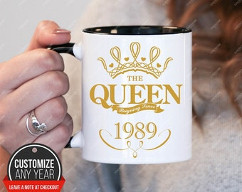 Queen since 1989, 29th birthday 29th birthday gifts for women, 1989 birthday gift, 29th birthday mug for mens, 29th birthday