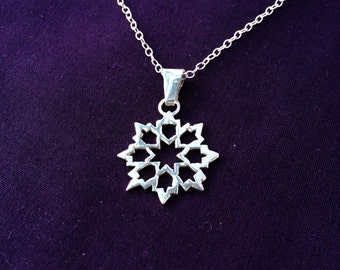 Architecture Star Sterling Silver Necklace