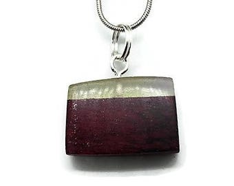 wood and resin necklace pendant square fashion jewelry handmade gift wedding party gift
