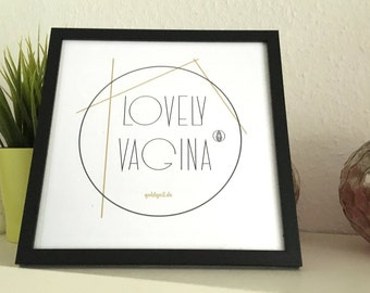 Art print / 25% sale / lovely vagina - picture / wall decoration