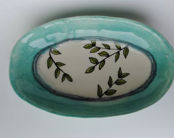 Handmade Ceramic Platter~ Pottery Platter, Serving Tray, Serving Bowl
