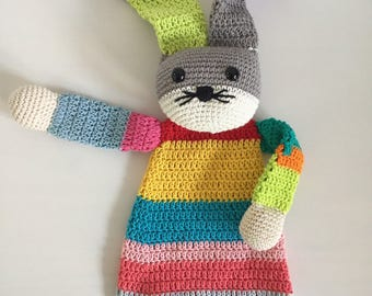 Crochet rag doll rabbit