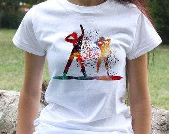 Party People T-shirt - Dance Tee - Fashion women's apparel - Colorful printed tee - Gift Idea
