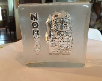 Magnor Glassverk Norway Viking Art Glass Sculpture/Paperweight