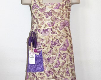 Child's Apron in Butterfly Fabric