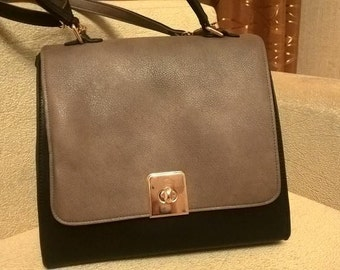 Faux Leather Handmade Bag with long & short handle