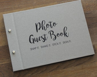 "Guest Book A4, Wedding Photo Book, ""Recycled"", Weddings, Engagements, Birthdays, Anniversaries"