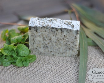 Eucalyptus Spearmint All Natural Vegan Facial and Body Bar
