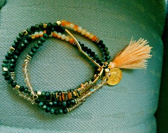 Crescent Moon Bracelet set of: 3