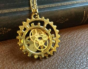 Golde Steampunk Necklace