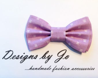 Boys Bow Tie, Lavender-White Bow Tie,Boy's Bow Tie, Bar Mitzvah Bow Tie, Wedding Bow Tie, Bow Tie for Men,Baby Bow Tie, Easter Bow Tie  B673