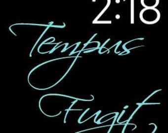 Tempus Fugit (Time Flies) Apple Watch Face Wallpaper