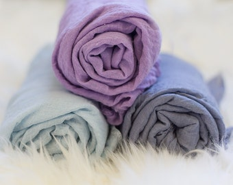HIGH QUALITY Hand Dyed Cheese Cloth Wrap for Newborn