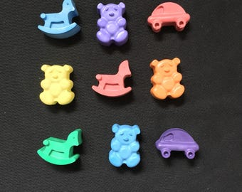 Baby Shower Crayon Favors- Cars, Bears, Rocking horse crayons