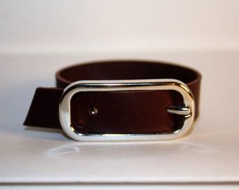 Bracelet in real leather purple