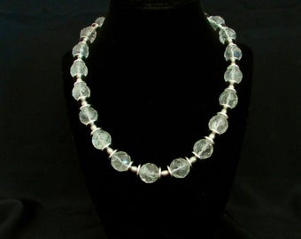 Radiated Quartz & Pearl Necklace