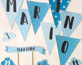"""Party Kit """"Baby Boy""""-birthday party-Ticket party invitation-print-on-demand Service"""