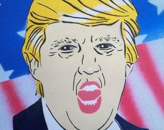 """8X10"""" Donad Trump Stencil Art"""