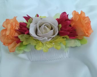 Flamenco flowers, hair flowers, bridesmaid, godmother wedding, Peinecillo Party, hair accessory, Valentine, Mother's Day,