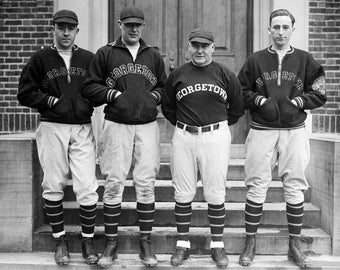 "1930 Georgetown Baseball Team Members Vintage Photograph 13"" x 19"" Reproduction"