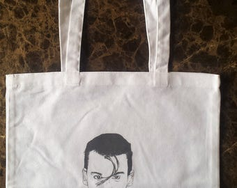 JOHNNY DEPP tote bag printed cotton