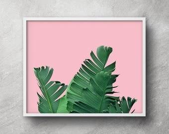 Palm leaf printable, Palm leaf wall decor, Banana leaf print, Palm leaf prints, Palm leaf wall art, Banana leaf print, Tropical decor